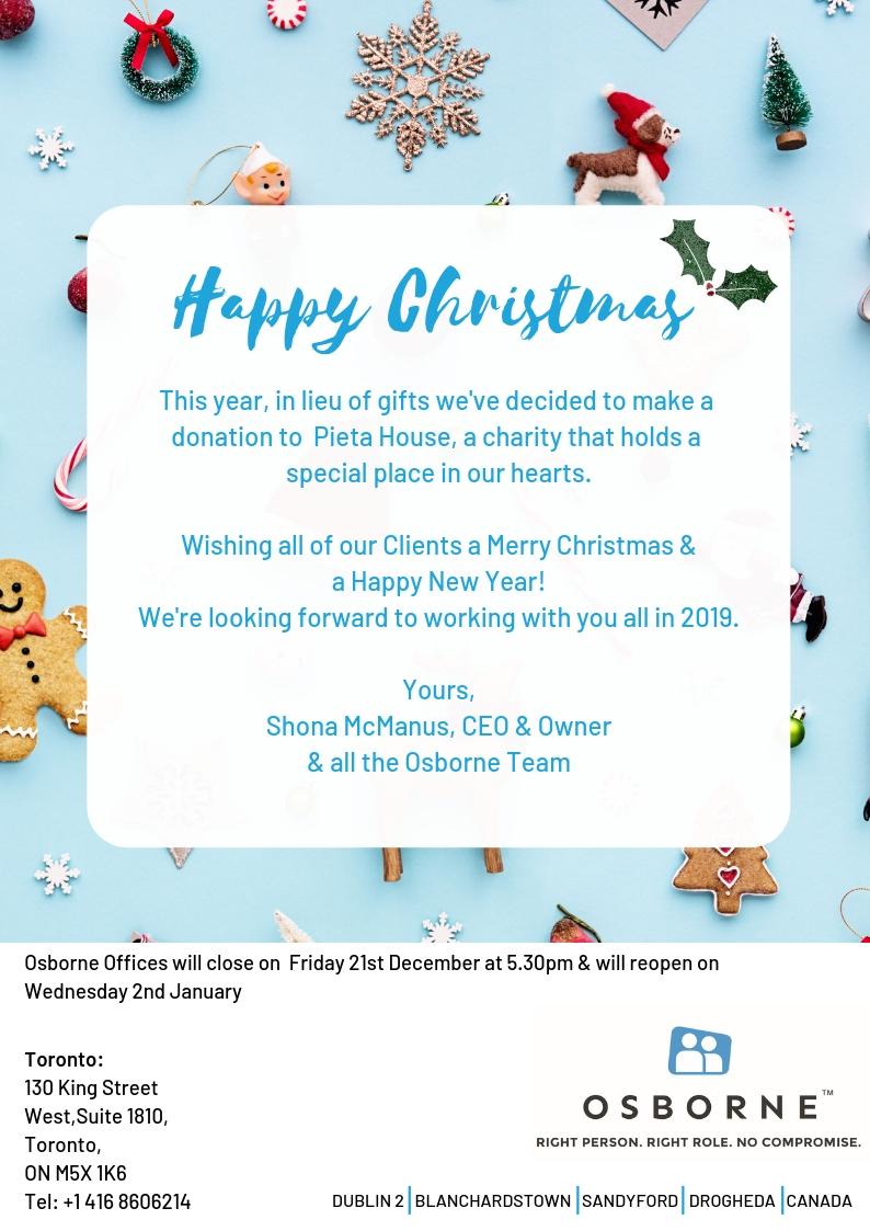 Osborne Toronto Christmas Greetings